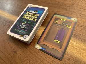 The clue deck with a closet card revealed.