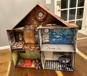 The Cursed Dollhouse fully assembled.