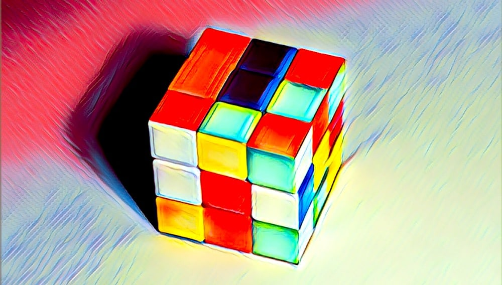 Stylized image of a speed cube