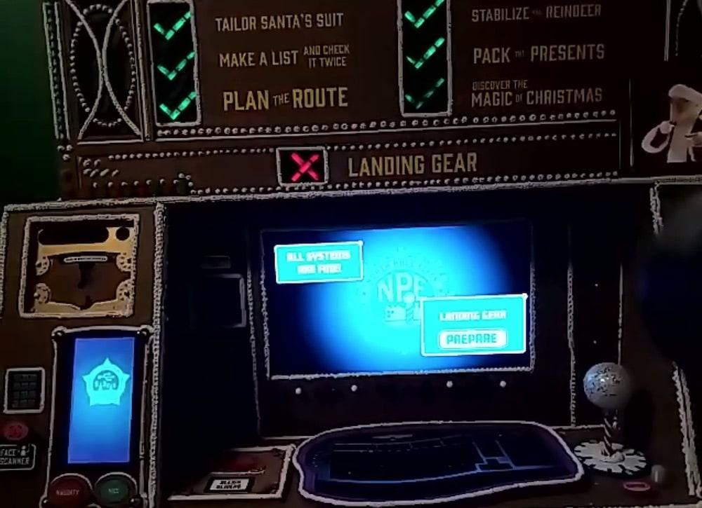 The control console fo Santa's sleigh.