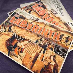 Labyrinth postcards