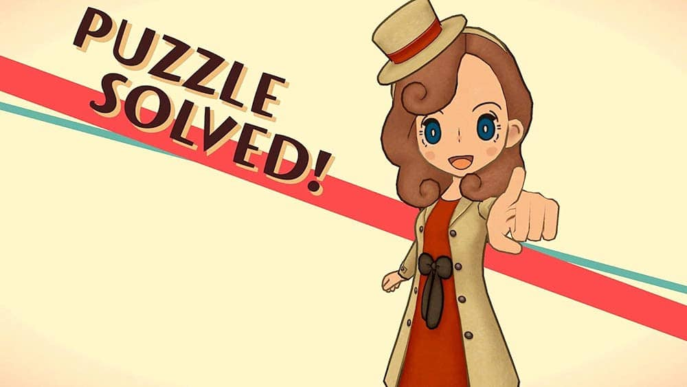 "Layton ""Puzzle Solved!"" screen."