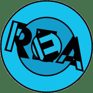 Room Escape Artist's blue concentric puzzle logo.