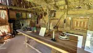 Interior of a primitive home.