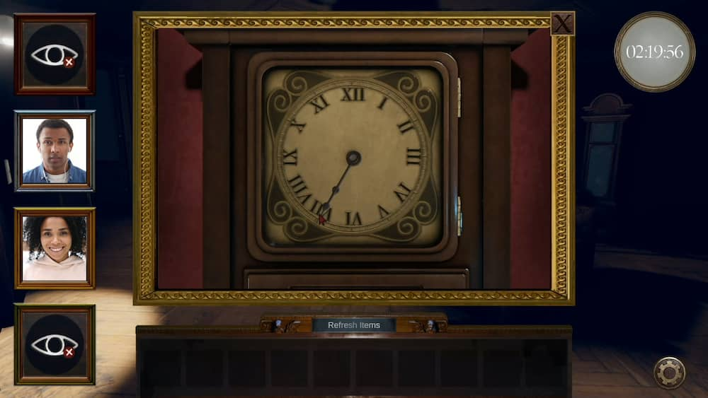 In-game, 3d rendering of a clock face.