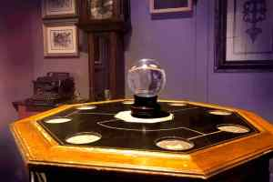 In-game: A crystal ball on a strange table.