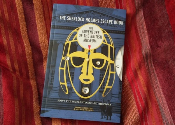 The Sherlock Holmes Escape Book: The Adventure of the British Museum cover with code wheel.