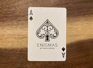 The ace of spaces from David Kwong's Enigmas deck.