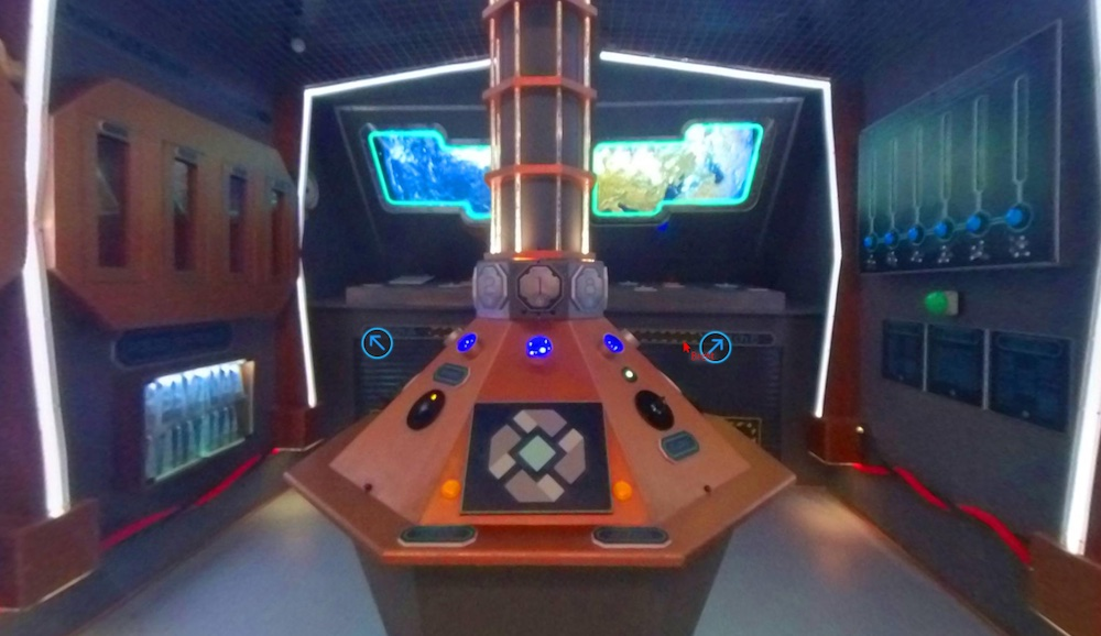 The time machine's interior as viewed through Telescape.