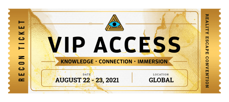 Gold RECON VIP Access ticket - date: August 22-23, 2021.
