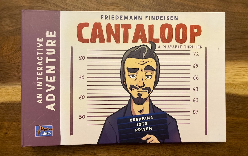 Cantaloop book cover depicts the main character in a mugshot with a lot of swagger.