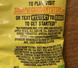 Website and rules text, sourpatchkidsmystery.com