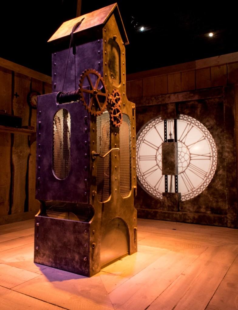 A clockwork mechanism within a clocktower.