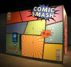Exterior of the Comic Smash game.