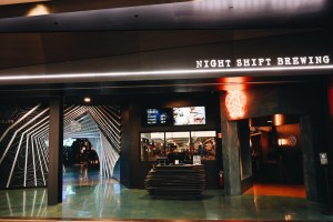 Front of Level 99 with an entrance for Night Shift Brewing.
