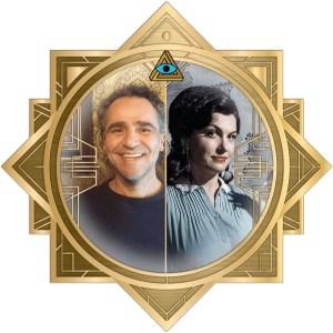 Marise & David's headshot in an ornate art deco RECON 21 frame.