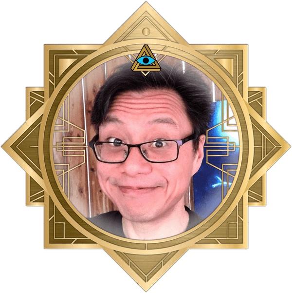Errol's headshot in an ornate art deco RECON 21 frame.