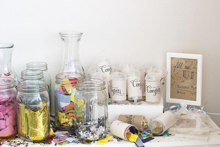 confetti party supplies