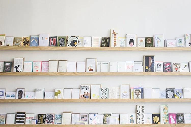 greeting card wall