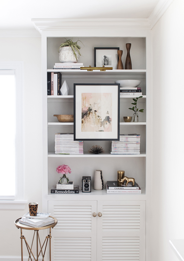 Mounting Art to Bookshelves