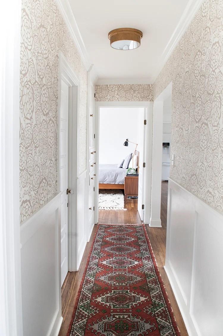 rug runner in hallway