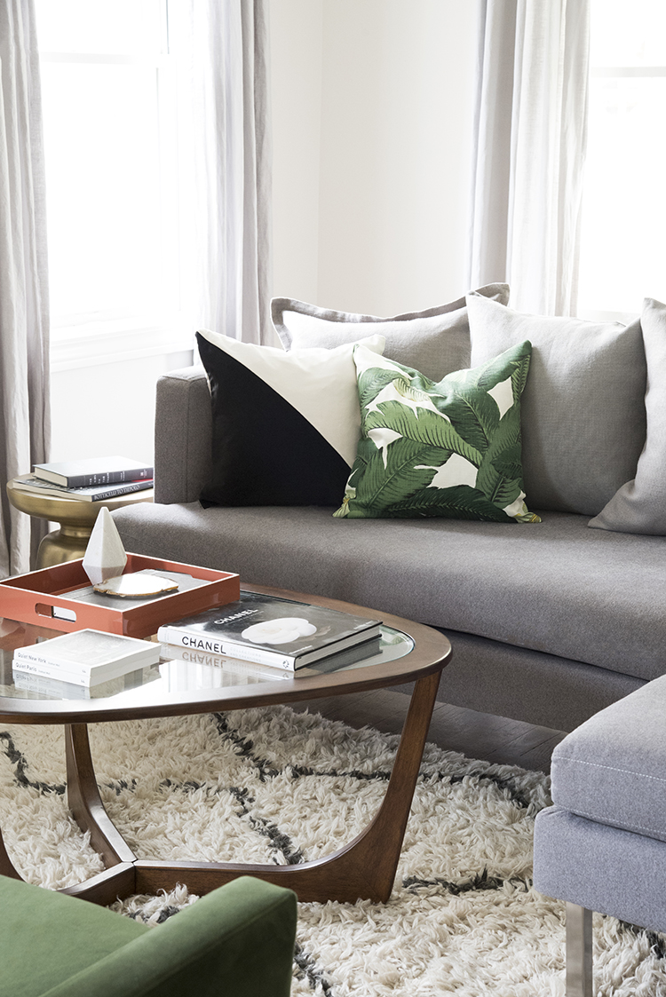 Coral And Grey Living Room Zion Star