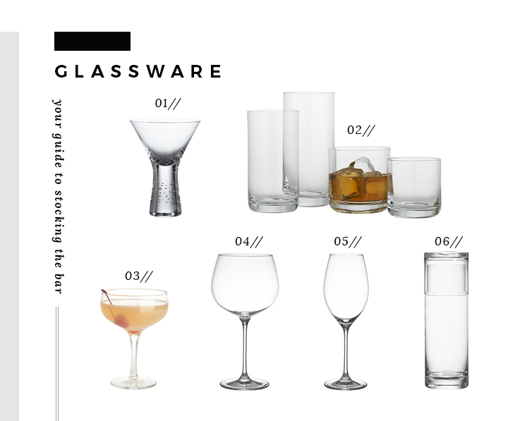 Bar Essentials - Glassware