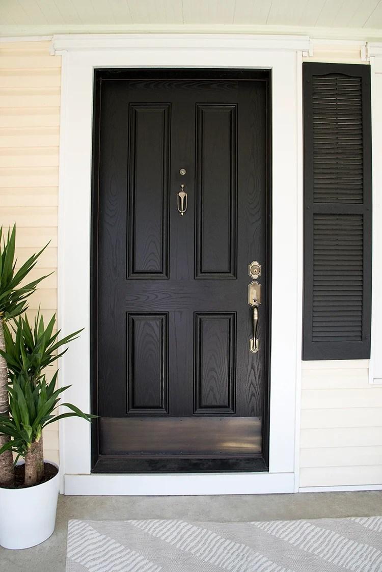 Front Door with Brass Hardware
