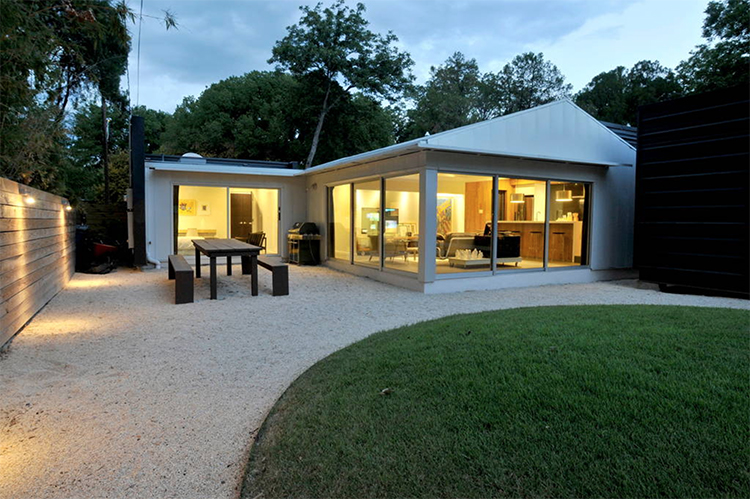 Modern Glass House in Austin