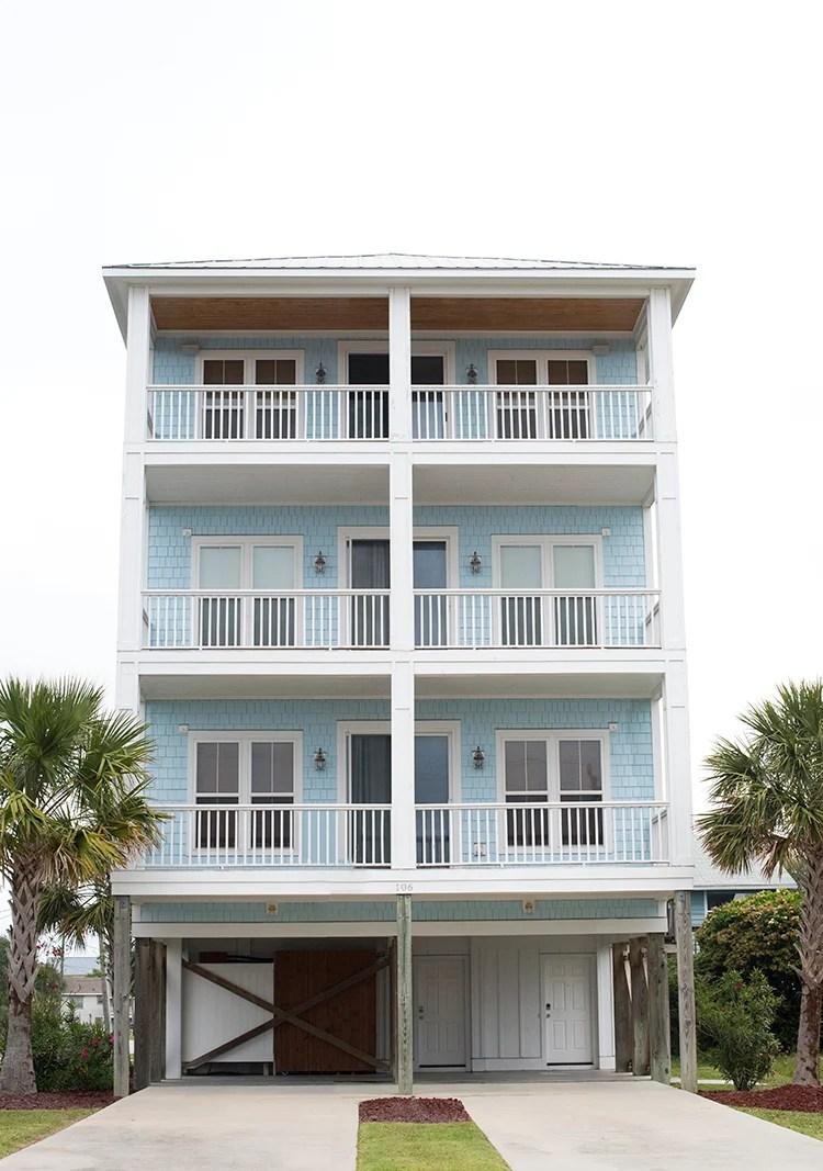 Pastel Blue Beach House