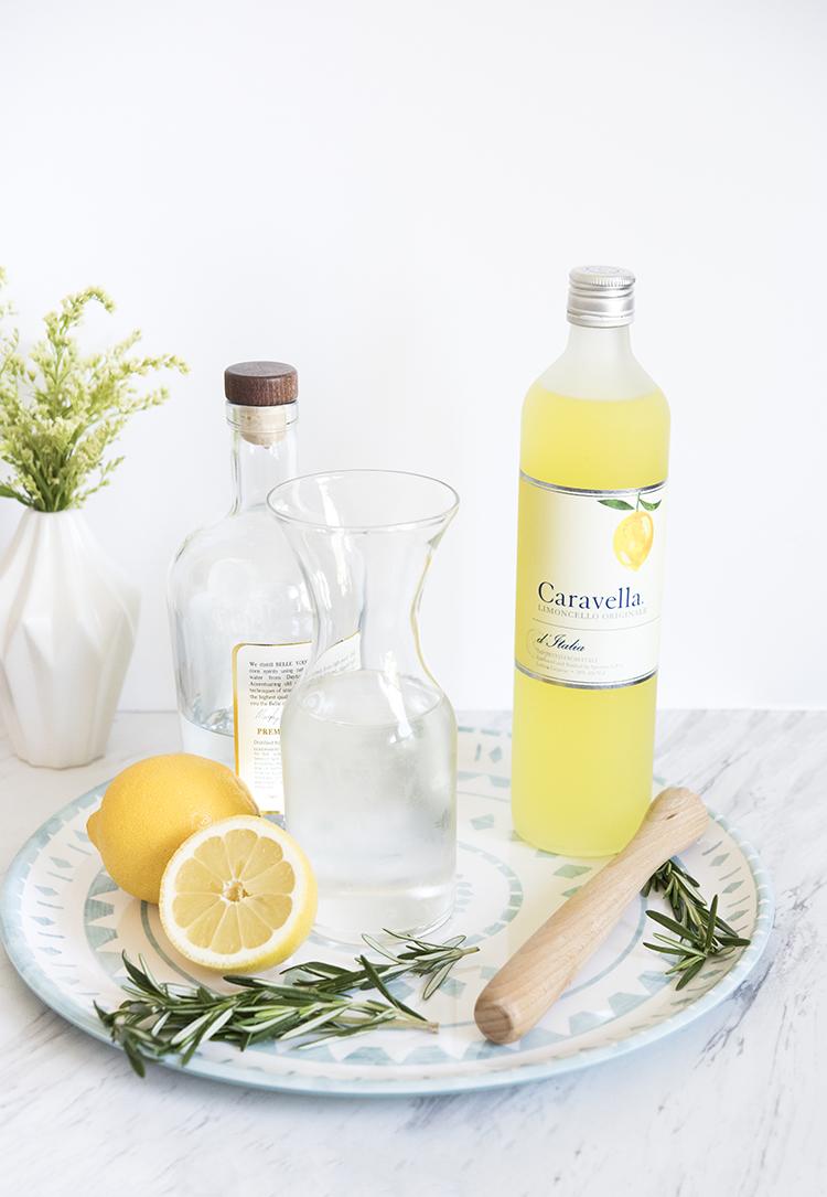 Rosemary Lemon Drop Cocktail Ingredients