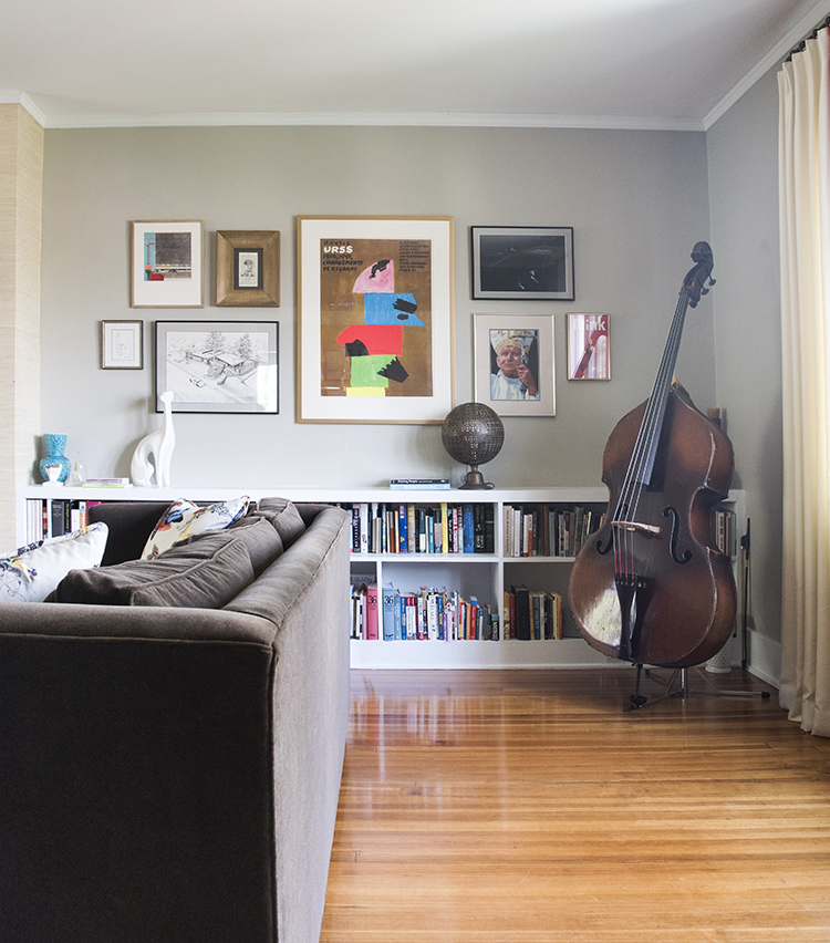 Built In Shelving and Gallery Wall