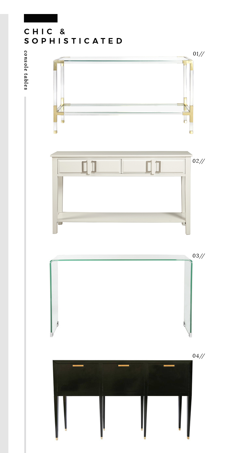 Chic and Sophisticated Console Tables