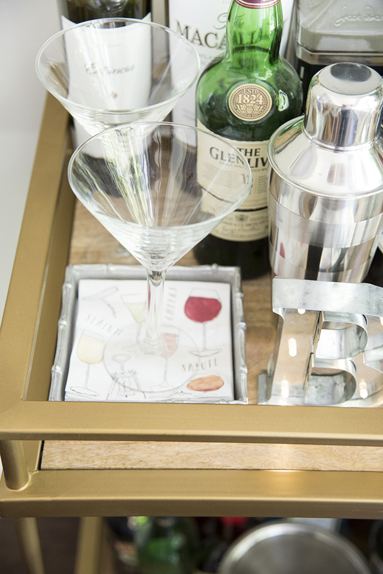 Stocked Bar Cart