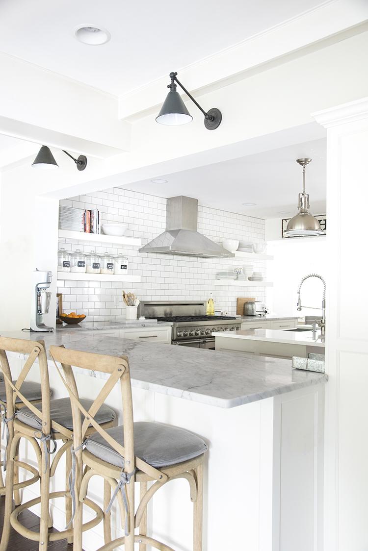White Modern Farmhouse Kitchen