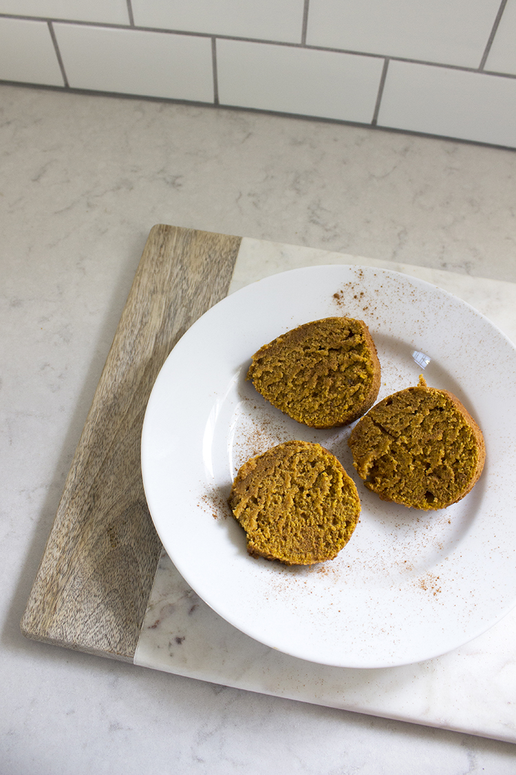 pumpkin spice bread after