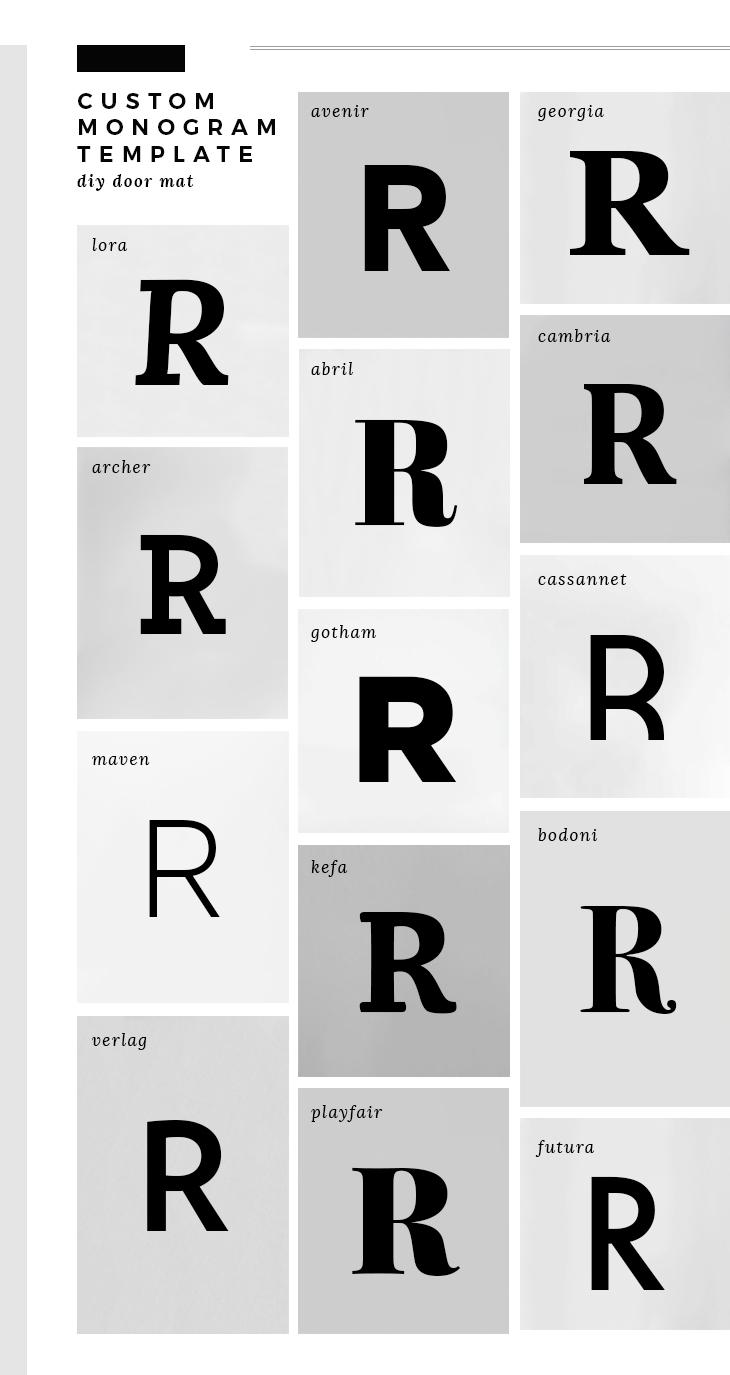custom monogram template room for tuesday