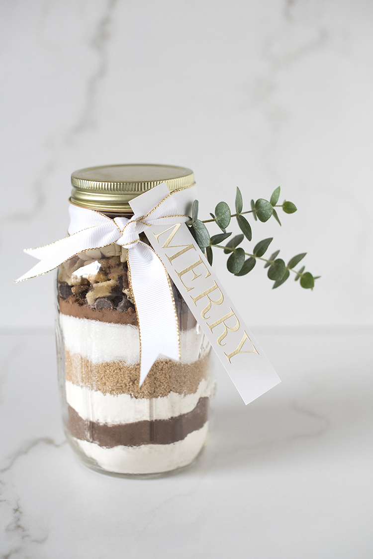 double chocolate brownie jar | mason jar gift ideas