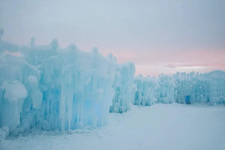 ice-castle-sunset