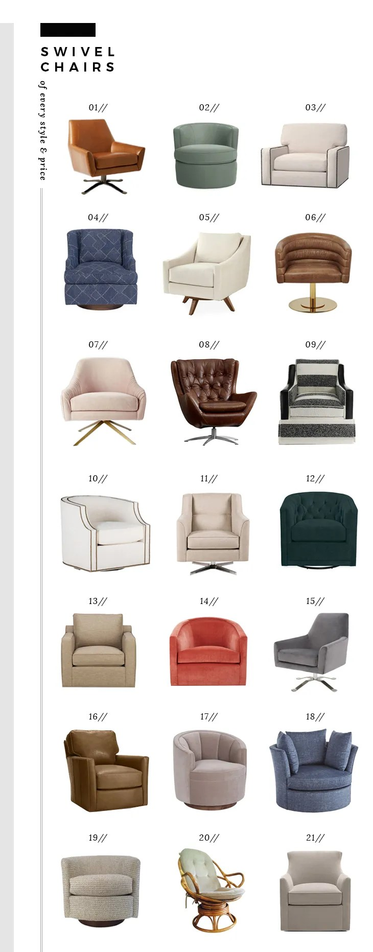 Swivel Chairs of Every Price and Style