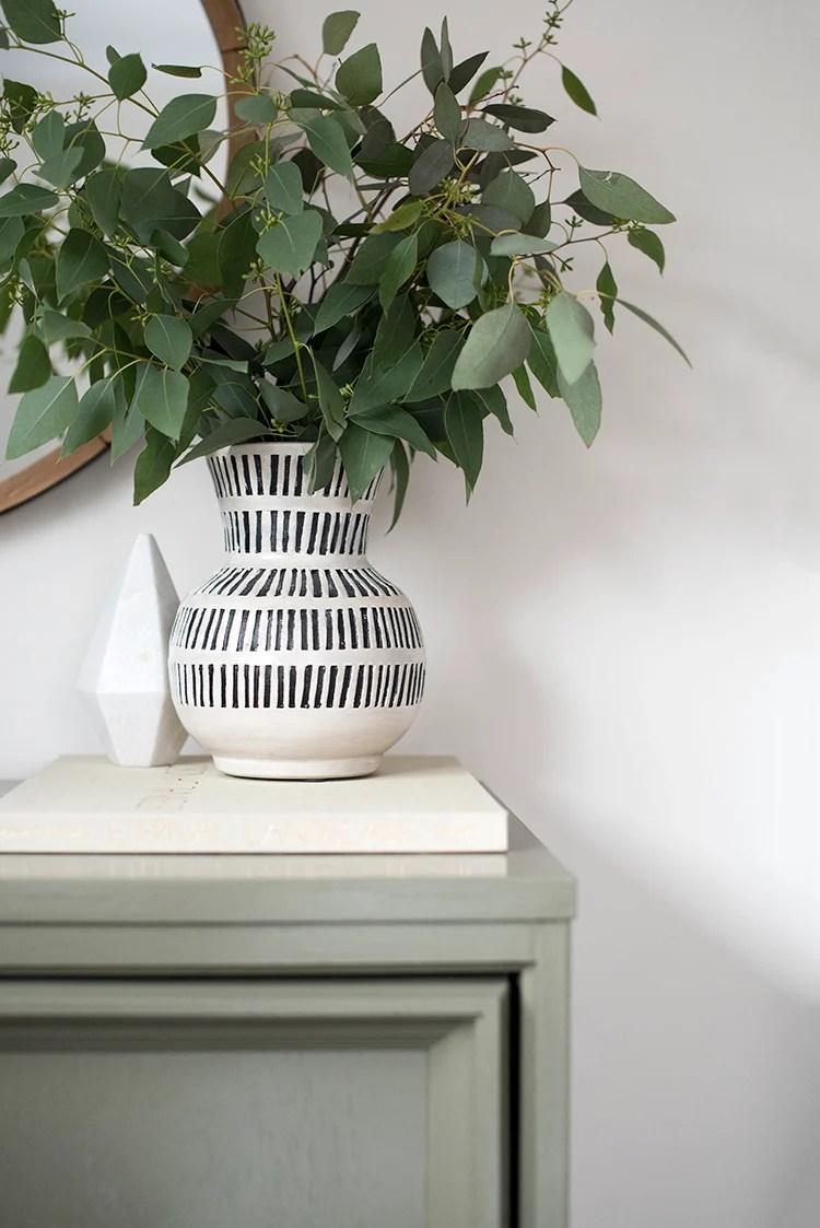 Vase with Greenery