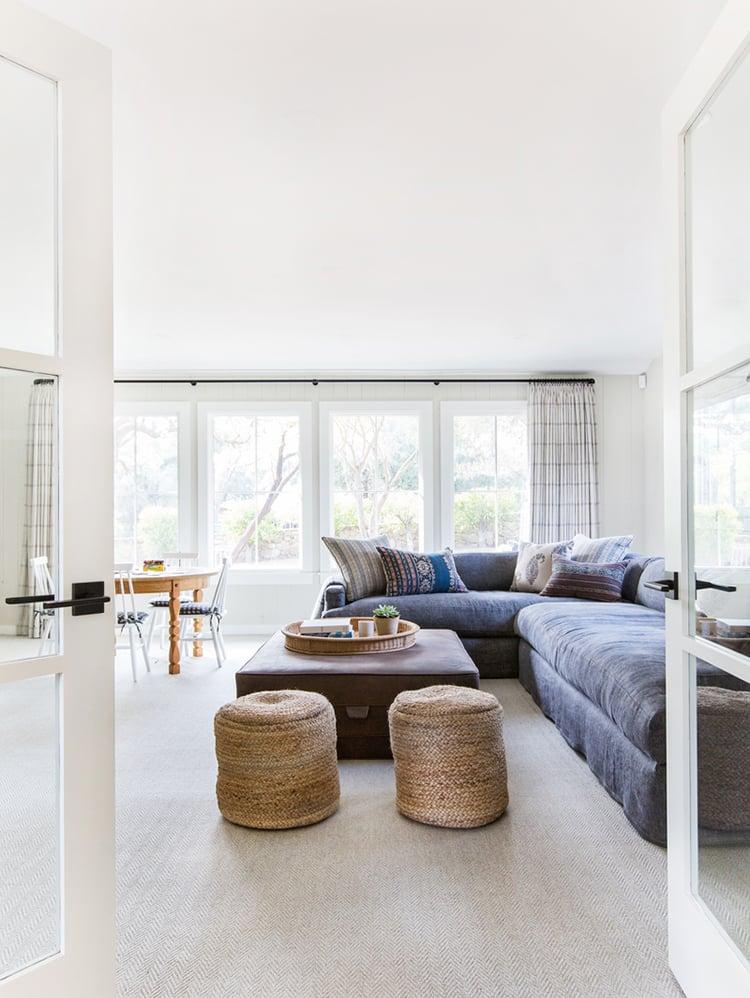 Denim in Living Room