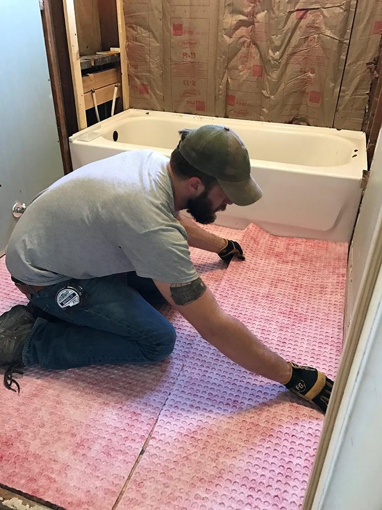 Bathroom Tile Prep