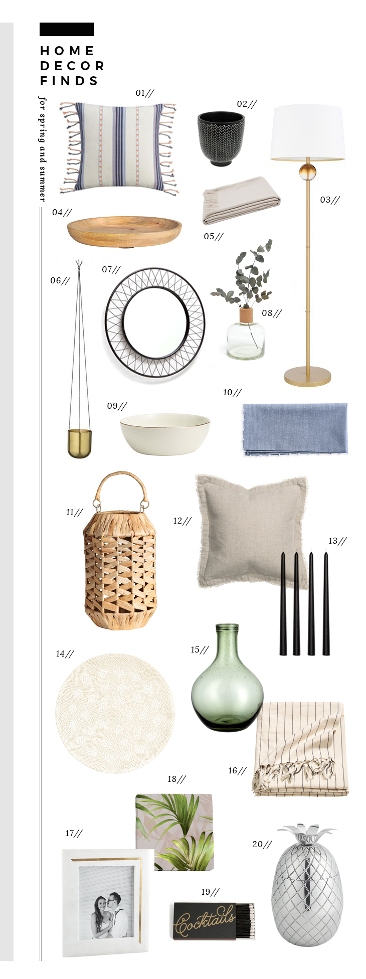 home decor finds for spring and summer