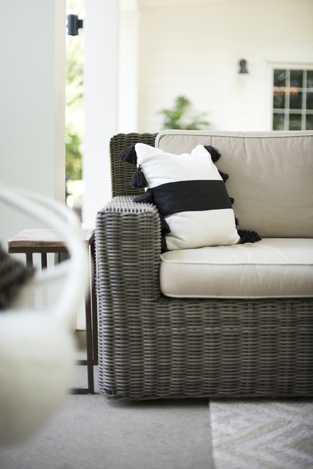Neutral Outdoor Throw Pillows - Room for Tuesday Blog
