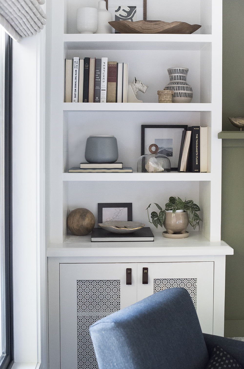 Styled Shelf in Living Room