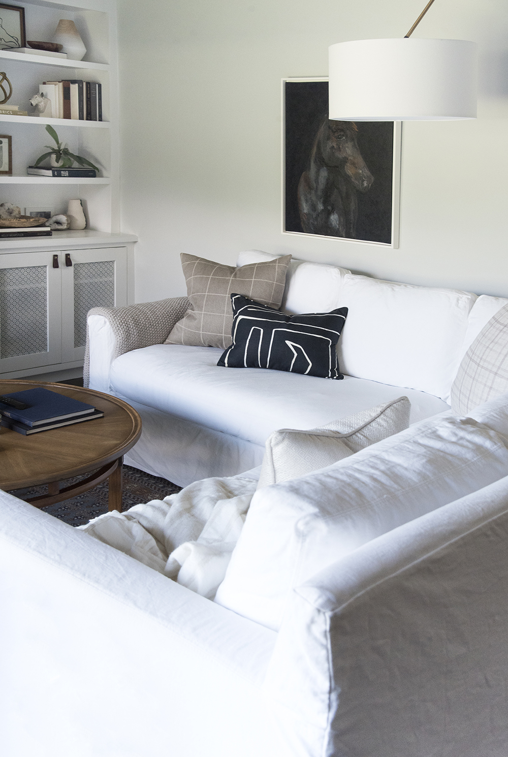 White Sectional