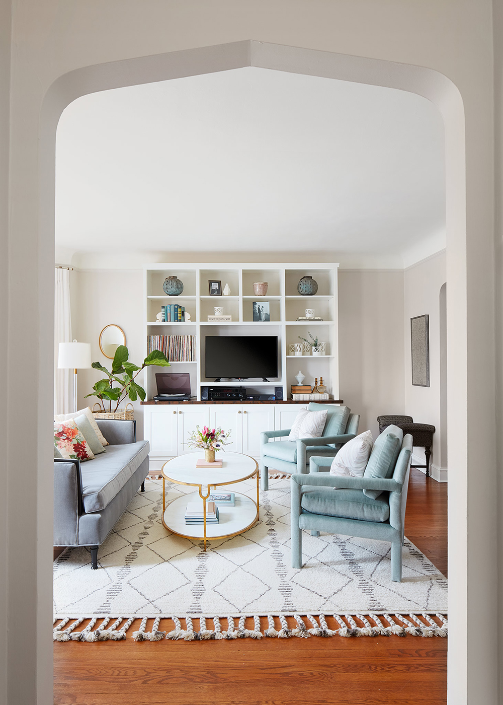 Curated, Soft Living Room