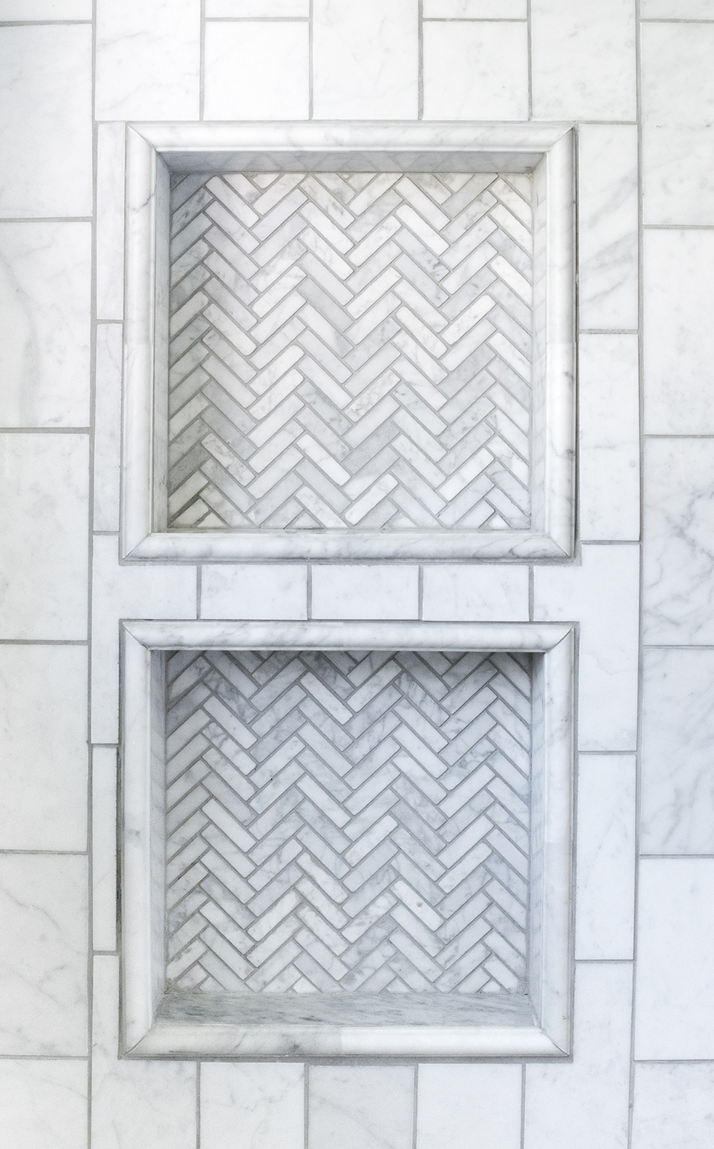 Chevron Shower Niche