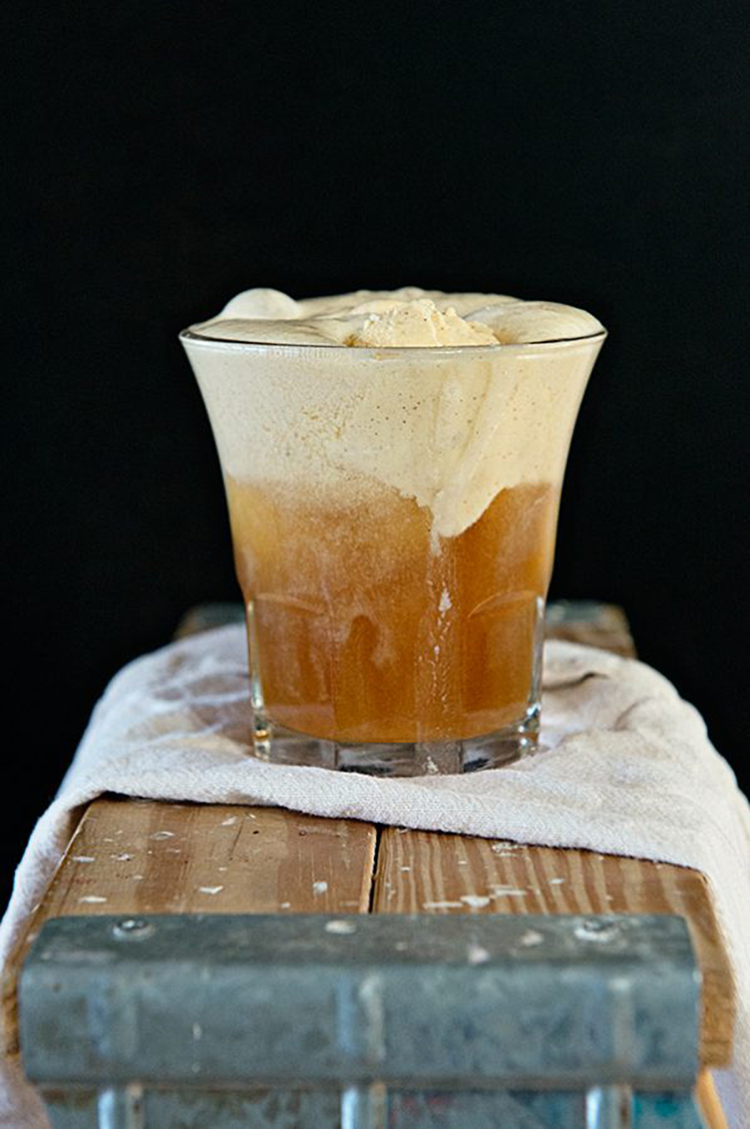 Hard Cider Pumpkin Float Cocktail